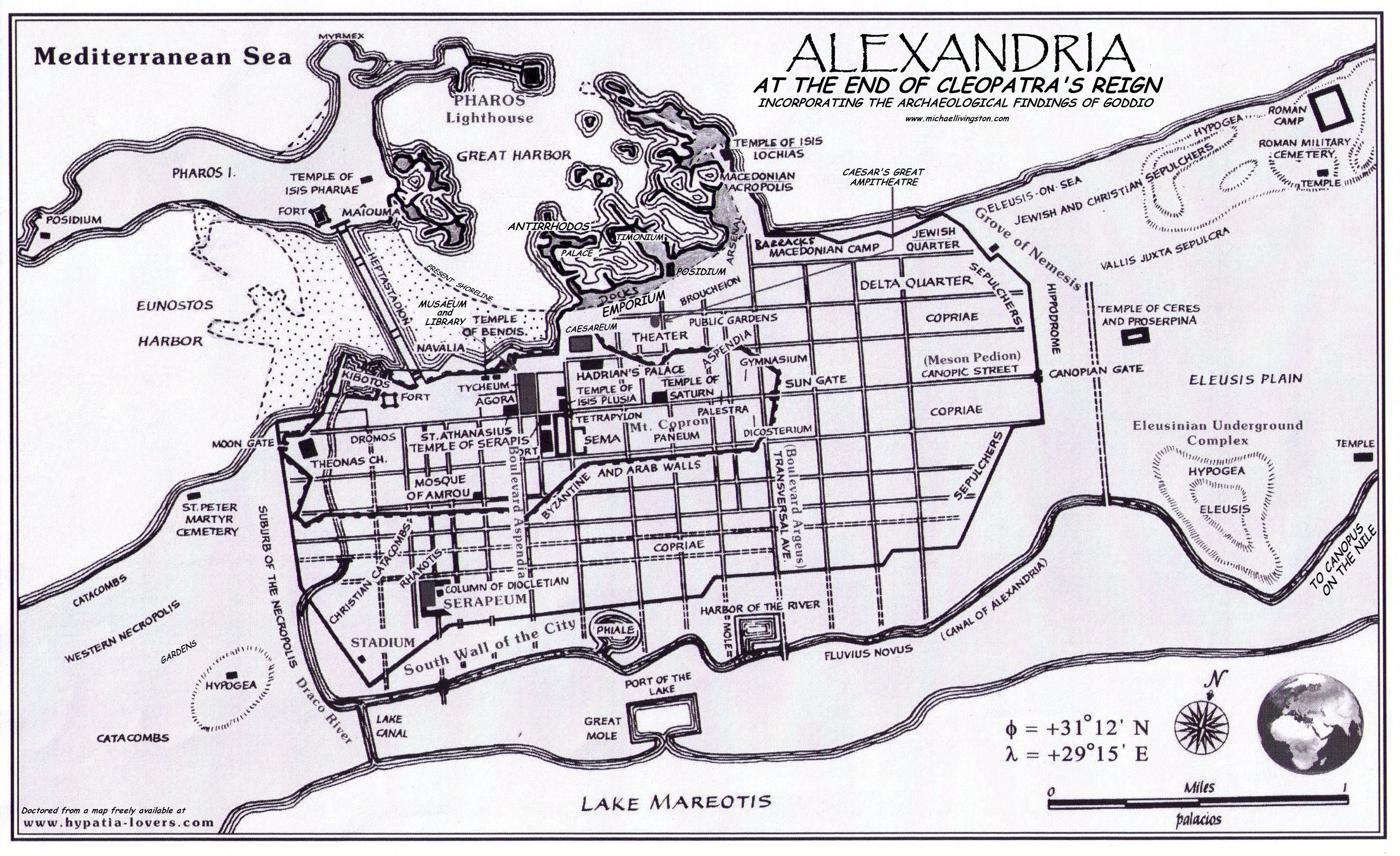 location map alexandria egypt and rome