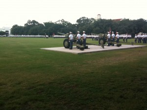 Cadets at Parade Attention.