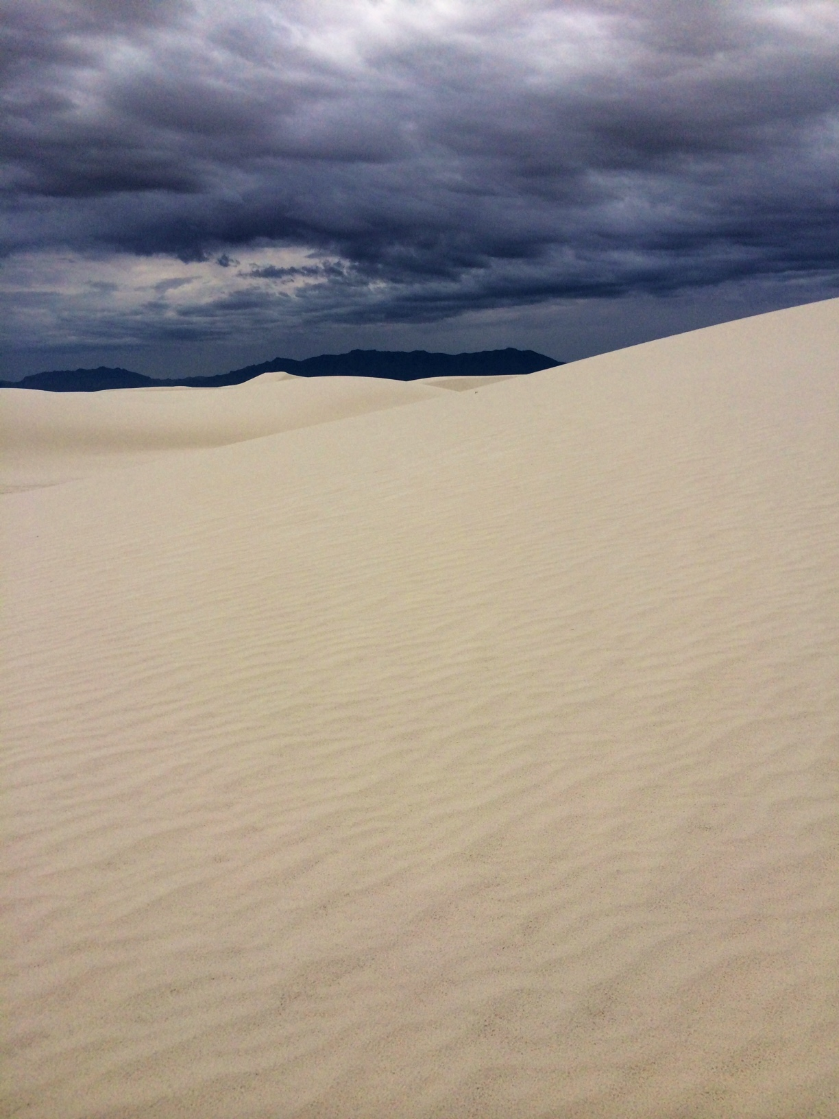 Dark Clouds over White Sands 2
