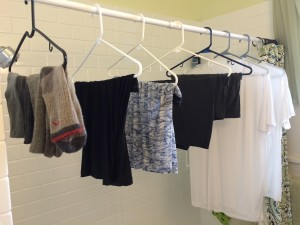Travel undergarments drying