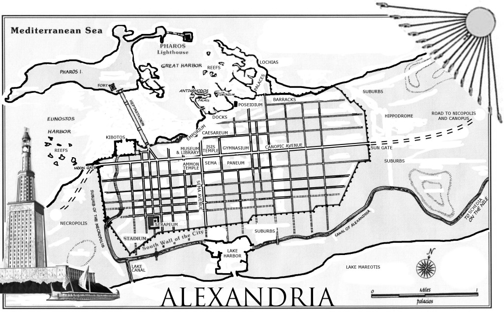 My 2014 map of Ancient Alexandria.