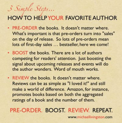 Three simple steps to help your favorite author.